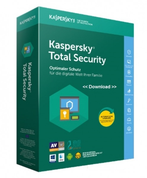 Kaspersky Lab Total Security 2020, 3 User, 1 Jahr, ESD (deutsch) (Multi-Device) (KL1949G5CFS-20-ESD)